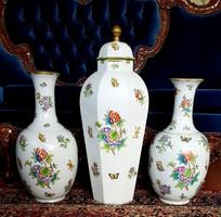 Óriási 65cm Herendi Viktória mintás VBO váza Hibátlan!