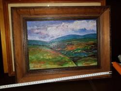 Pánti Imre festménye, gyönyörű állapotban, gyönyörű keretben