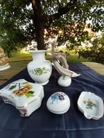 Hollóházi  porcelanok  egyben