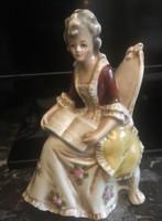 Antik Altwien barokk hölgy
