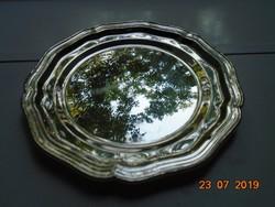 Barokk ezüstözött kerek tálca
