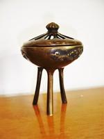 Japán bronz füstölő tartó