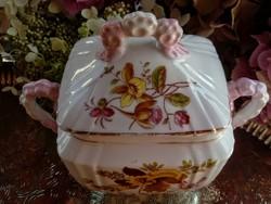 Álomszép porcelán cukortartó