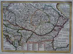 Magyarország; Jacques Chiquet - LE ROYAUME DE HONGRIE - 1719