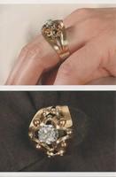 Század eleji arany gyűrű, gyémánttal