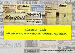 1959 augusztus 29  /  Népsport  /  SZÜLETÉSNAPRA RÉGI EREDETI ÚJSÁG Szs.:  4741