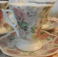 5 db porcelán kávés csésze aljjal jelzetlen