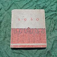 1940-es Budapesti angol nyelvű színes naptár