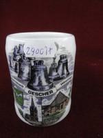 FLOSS Bavaria német porcelán mini korsó. Hófehér alapon kézzel festett.