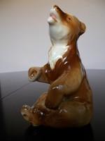 Gyönyörű hibátlan régi Royal dux medve