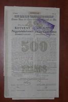 Pesti Hazai Első TakarékPénztár Egyesület kötvénye, 475 Koronáról, 1913