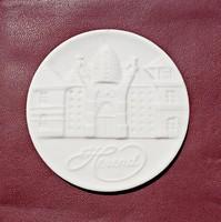 Jelzett, hibátlan Herendi porcelán plakett