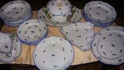 Herendi antik kék nefelejcs mintás étkészlet 24 db