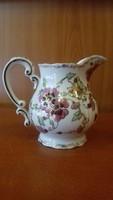 Zsolnay teás tejkiöntő pillangó/lepke mintás jelzett
