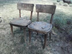 Antik thonet teljesen felújítandó szék 2 db