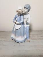 """""""Szerelmesek"""" :) Gyönyörű régi német porcelán figura páros!"""