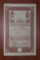 Államadósági kötvény, 1000 Koronáról, 1902
