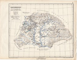 Magyarország Szent István halálakor 1038 térkép, kiadva 1913, történelmi, atlasz, Kogutowicz Manó