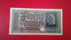 1939-1945 50 Reichsmark RITKA SZÁRAZ PECSÉTES !