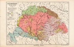 Nagy - Magyarország néprajzi térkép 1913 (2),  atlasz, eredeti, Kogutowicz, Cholnoky Jenő, néprajz