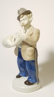 Régi német zenész porcelán figura