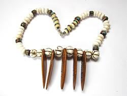 Különleges afrikai törzsi csont nyaklánc!