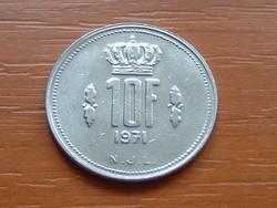 LUXEMBURG 10 FRANK 1971   #