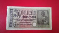 1939-1945 20 Reichsmark III. Birodalom RITKA SZÁRAZ PECSÉTES