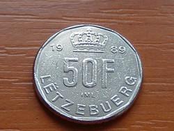 LUXEMBURG 50 FRANK 1989   #