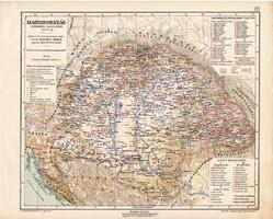 Magyarország térkép 1711 - 1790, kiadva 1913, történelmi, Kogutowicz Manó, Pragmatica Sanctio, régi