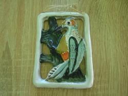 Zsűrizett  madár figurás fali kerámia