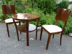 2 db Art deco szék + asztal.