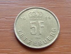 LUXEMBURG 5 FRANK 1989   #