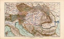 Magyarország és Ausztria politikai térkép 1913 (2), Osztrák - Magyar Monarchia, atlasz, közlekedés