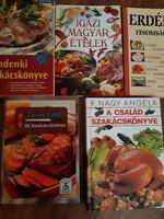 5 db szakácskönyv egyben