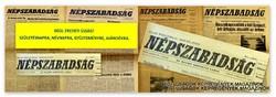 1977 augusztus 26  /  NÉPSZABADSÁG  /  SZÜLETÉSNAPRA RÉGI EREDETI ÚJSÁG Szs.:  7831