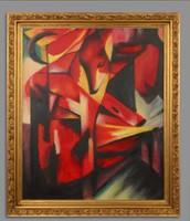 Absztrakt expresszionista rókás festmény