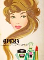 Lengyel Sándor (1930-1988) Opera - vezető kozmetikai márka plakát és plakátterv
