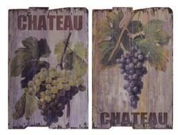 Szőlős/bor vintage fatábla