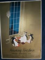Farsang Bécsben 1938 január-március korabeli asztali plakát 32x23 cm