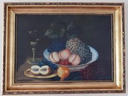 Gyümölcs csendélet,múltszázadi festmény.