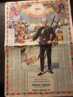 Kéményseprő naptár 1940