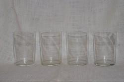 4 db régi vékony falú pohár  ( DBZ 00105 )
