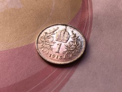1916 ezüst 1 korona,gyönyörű,karcmentes
