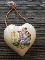 Fali  fűszertartó szív alakú