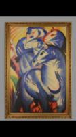 Absztrakt lovas festmény -expresszionista