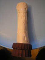 U7 Ázsiai antik dús csontfaragás agyar ívű
