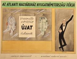 CSÁBÍTÓ ÜZLETVEZETŐ (ADENAUER) korabeli politikai karikatúra