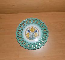 Áttört habán kerámia falitányér 22 cm (3p)