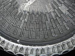 Ritka kézműves kovácsolt vas tálca